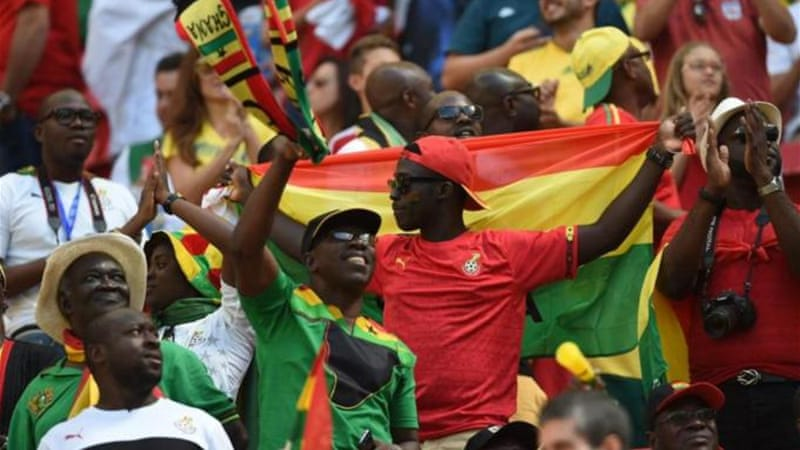 The Ghanaian fans say they are fleeing religious conflicts in their home country [AFP]