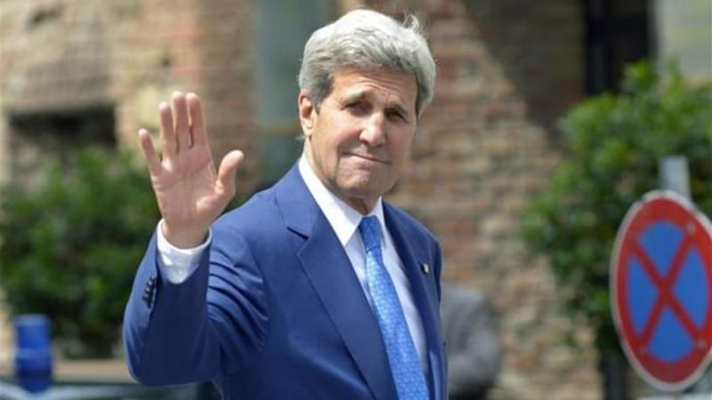Kerry said the talks had made progress but there remained 'very real gaps' in key issues [EPA]