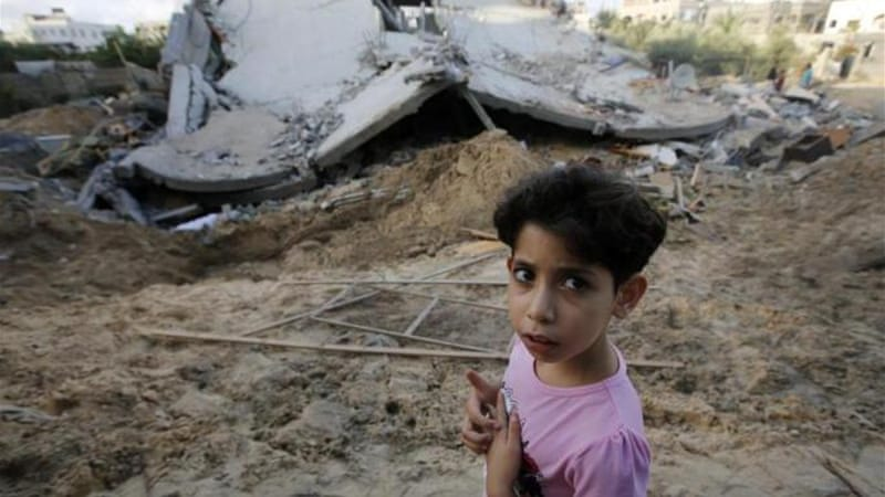 How would you write an essay about how arabs suffer in Gaza?
