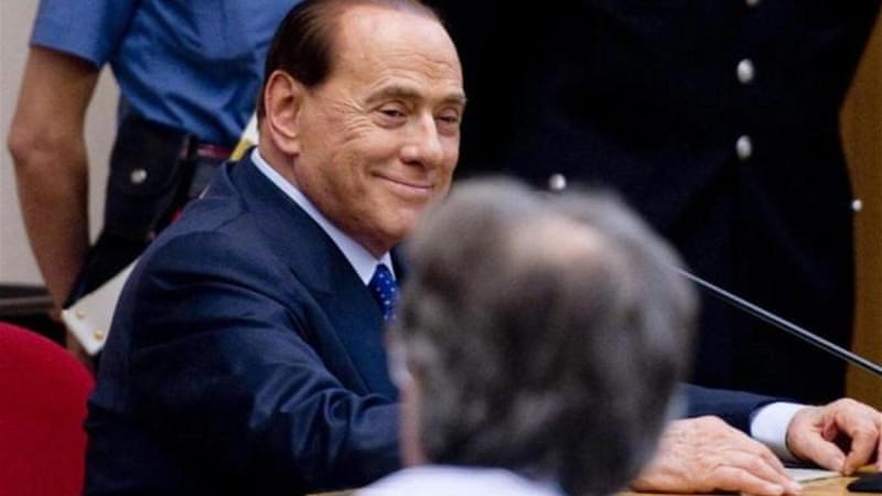 Friday's court ruling is expected to strengthen Berlusconi in the Italian political scene [EPA]