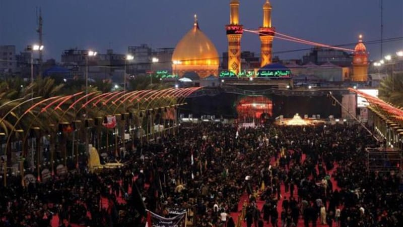 The shrine of Imam Hussein is revered by Shia Muslims [AP]