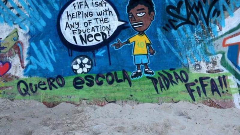 Anti-FIFA protests have taken place across the world [Getty Images]