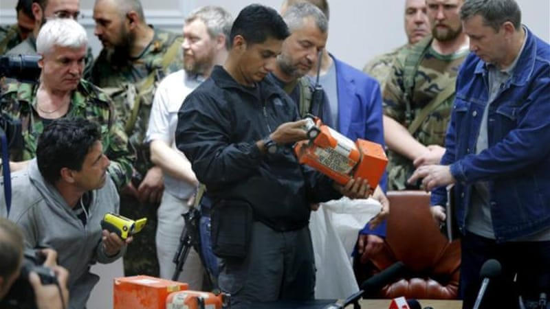 Malaysian authorities said the black boxes were 'in good condition' [EPA]