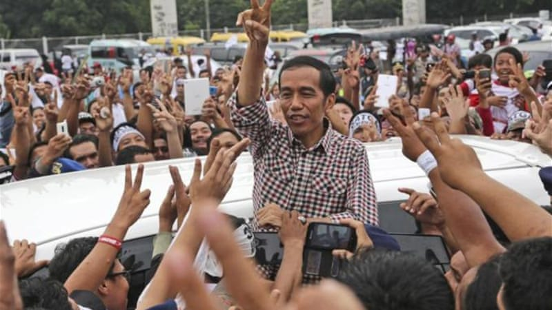 Jokowi won the Indonesian elections with 53 percent of the vote [AP]