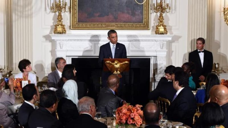 US President Barack Obama hosted the annual White House Iftar on July 14 [AFP/Getty Images]