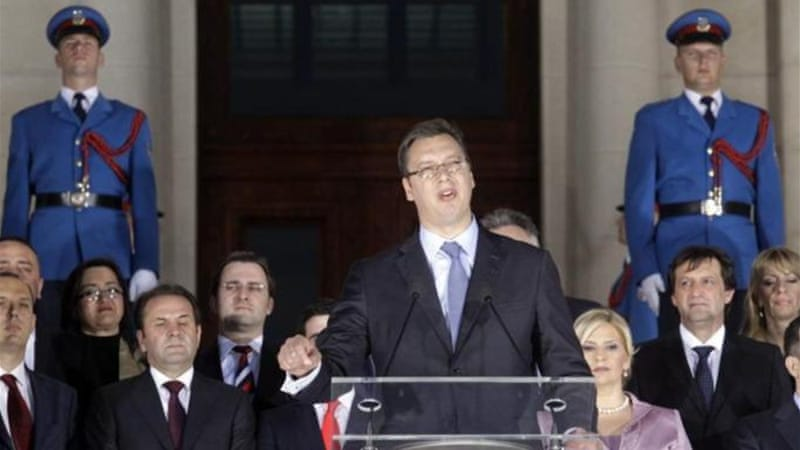 In April, Serbian Prime Minister Aleksandar Vucic promised to reform the education system [EPA]