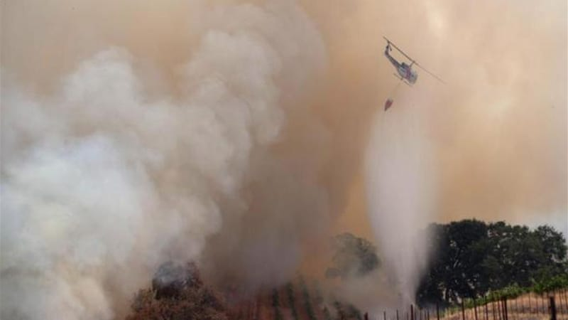 The Sand Fire has burned more than 1,500 hectares in Amador and El Dorado counties since Friday [Reuters]