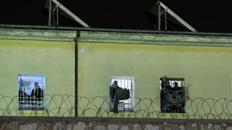 Thousands of prisoners in Greece went on hunger strike to protest new maximum security cells [AP]