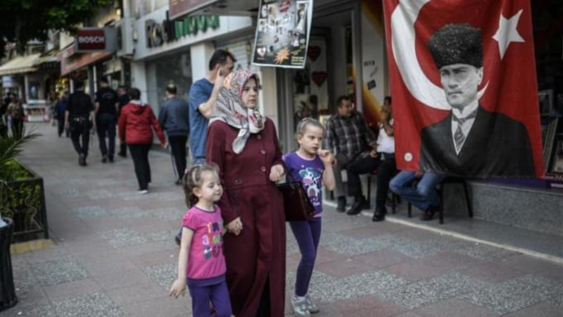 The lack of daycare centres forces some Turkish women to stay at home and take care of their children, writes Akyol [AFP]