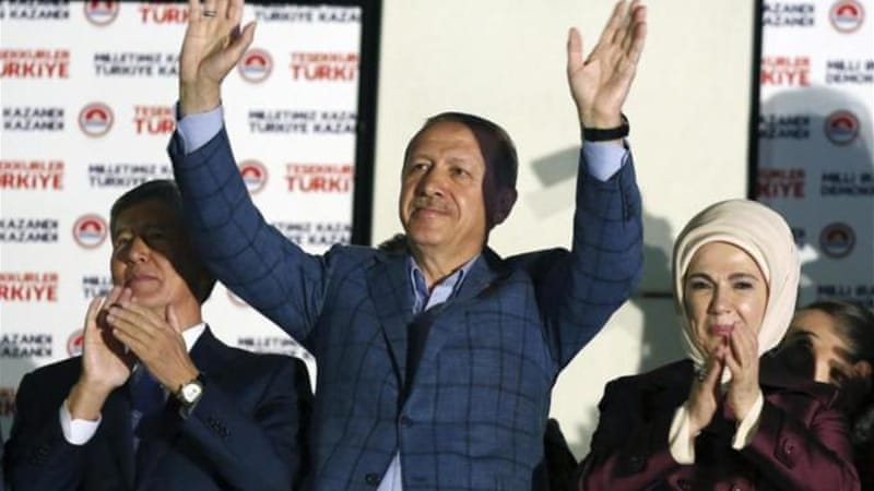 Turkey's PM Recep Tayyip Erdogan won the presidential elections with 51.79 percent[AP]