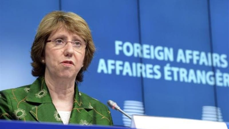 EU High Representative for Foreign Affairs and Security Policy Catherine Ashton. [Thierry Charlier/AFP]