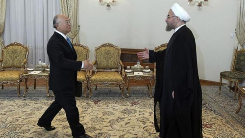 IAEA chief Amano says Iran has a 'firm commitment' to cooperate with the UN agency [AP]