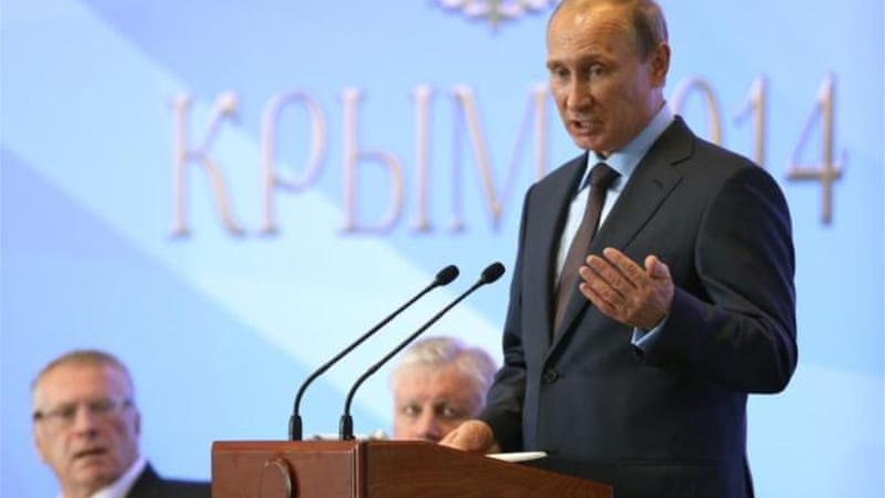Russian President Vladimir Putin visited Crimea in mid-August [EPA]