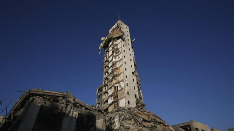In late August Israeli air strikes destroyed much of one of Gaza's tallest apartment and office buildings [Reuters]