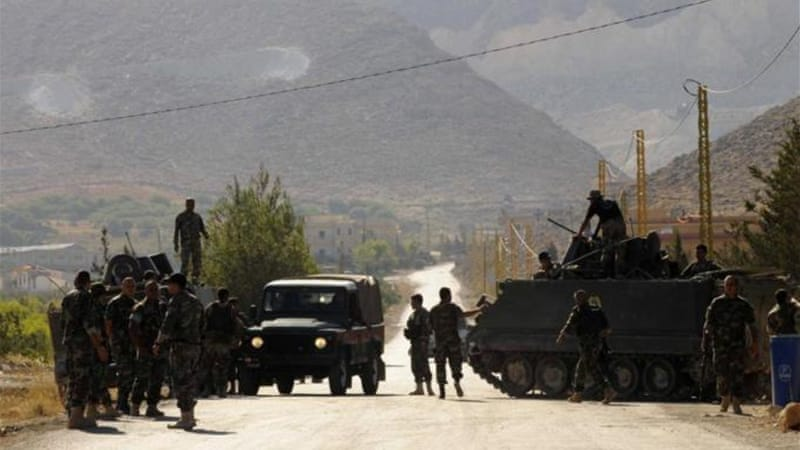 Eight Lebanese soldiers have been killed in clashes near Arsal [Reuters]