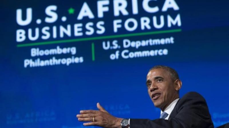 US President Barack Obama is hosting the first US-African summit in Washington DC [AFP/Getty Images]