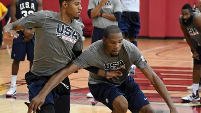 Durant [right] won gold in the 2012 Olympics with Team USA [Getty Images]