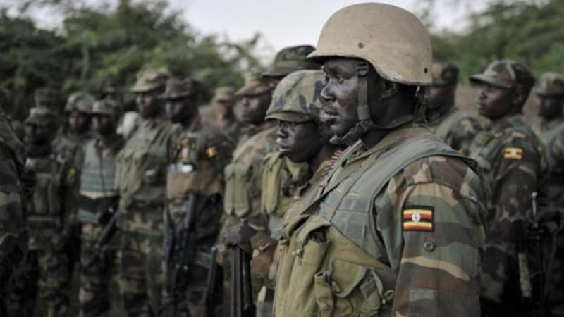 Ugandan troops are battling al-Shabab fighters in Somalia as part of a broad African Union force [AP]