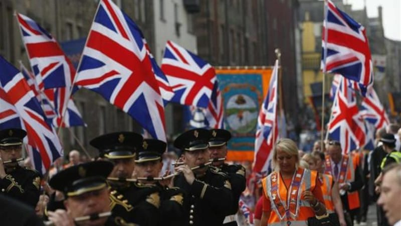Orange Order's colourful carnival march may have been the loud cry of a dying animal, writes Seth-Smith [Reuters]