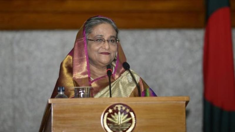 Hasina has criticised two judges for a ruling calling for the arrest of law-enforcement officials [AFP]