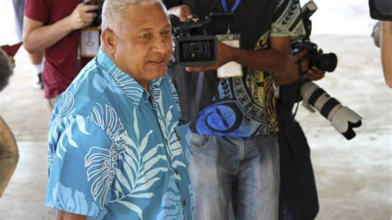 Bainimarama came to power in a bloodless coup eight years ago [AP]