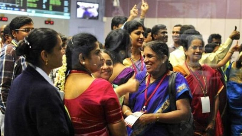 India's space agency ISRO celebrated the satellite's successful entry into Mars' orbit on September 24 [Reuters]