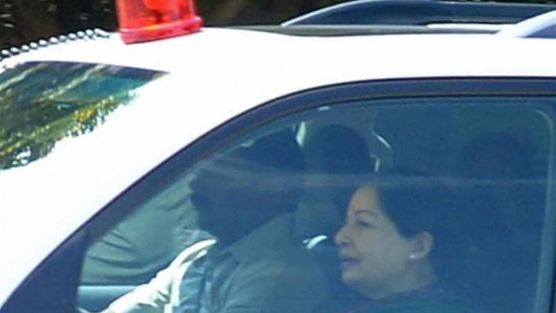 Jayalalithaa was found guilty of amassing illegal wealth of at least $10m, including gold and thousands of saris [AFP]
