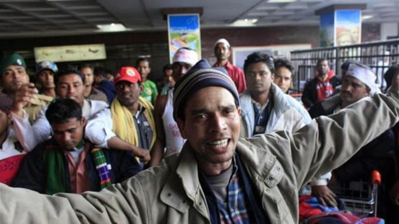In 2011, many Bangladeshi workers protested after they were evacuated from Libya during the unrest [File: Reuters]