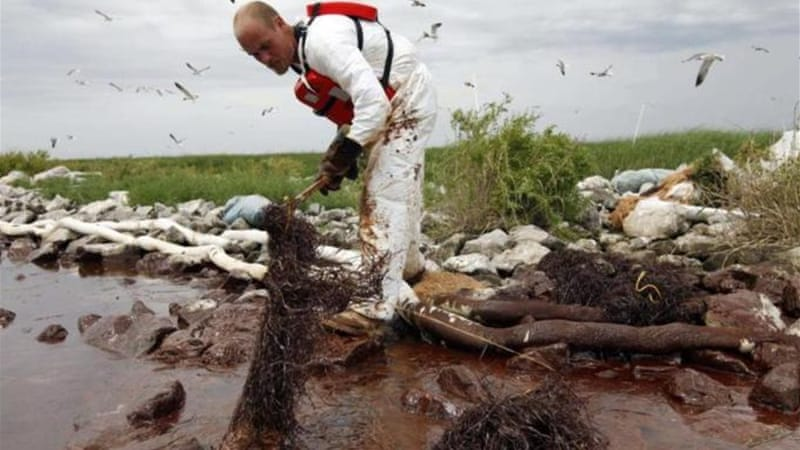 BP faces fines of up to $4,300 for each barrel of spilled oil [AP]