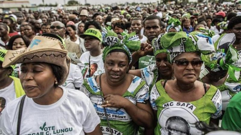 Lungu's Patriotic Front has been damaged by infighting, but says it is confident of winning the election [AFP]