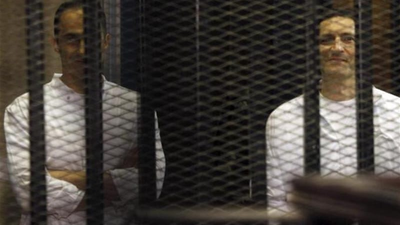 Mubarak's sons have been held in detention since April 2011, two months after their father resigned [File: Reuters]