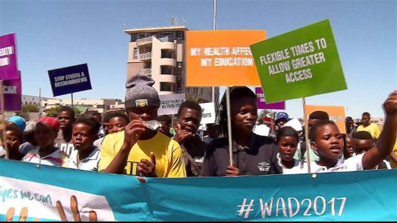 World AIDS awareness day march in Cape Town