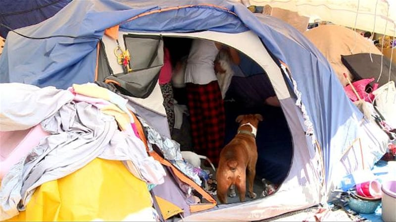 Mexico quake survivors still live in tents six months on