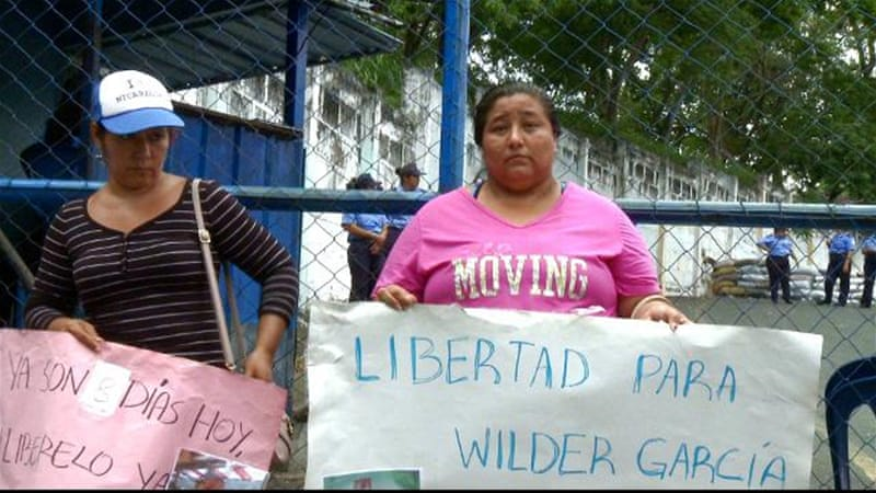 Nicaragua violence: Families call for release of detainees