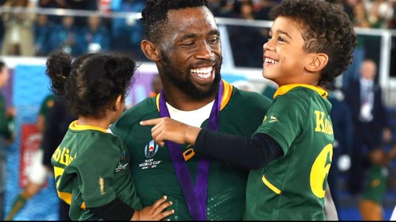 South Africa's first black rugby head inspires destitute players