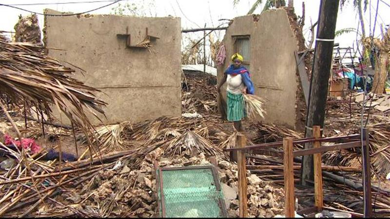 Image result for Cyclone Kenneth survivors struggle to rebuild lives in Mozambique