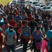 'Migration isn't going to stop': Salvadorans join new caravans
