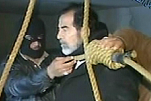 Are amateur video shows the final moments of saddam hussein consider