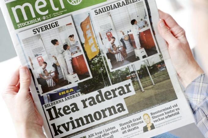 Swedish firm erases women in Saudi catalogue