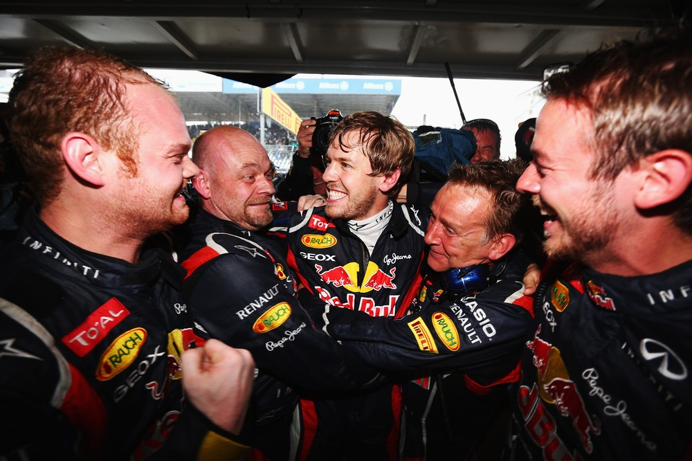 Sebastian Vettel emerged