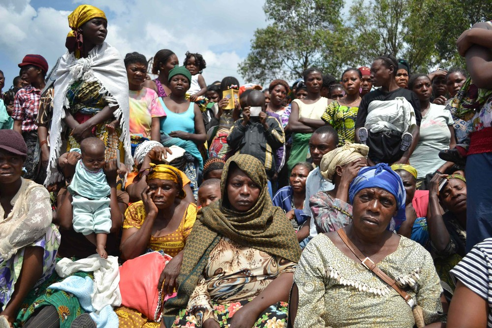 Thousands of families linked to FARDC forces were forced to flee their homes when the M23 rebel group entered the city.