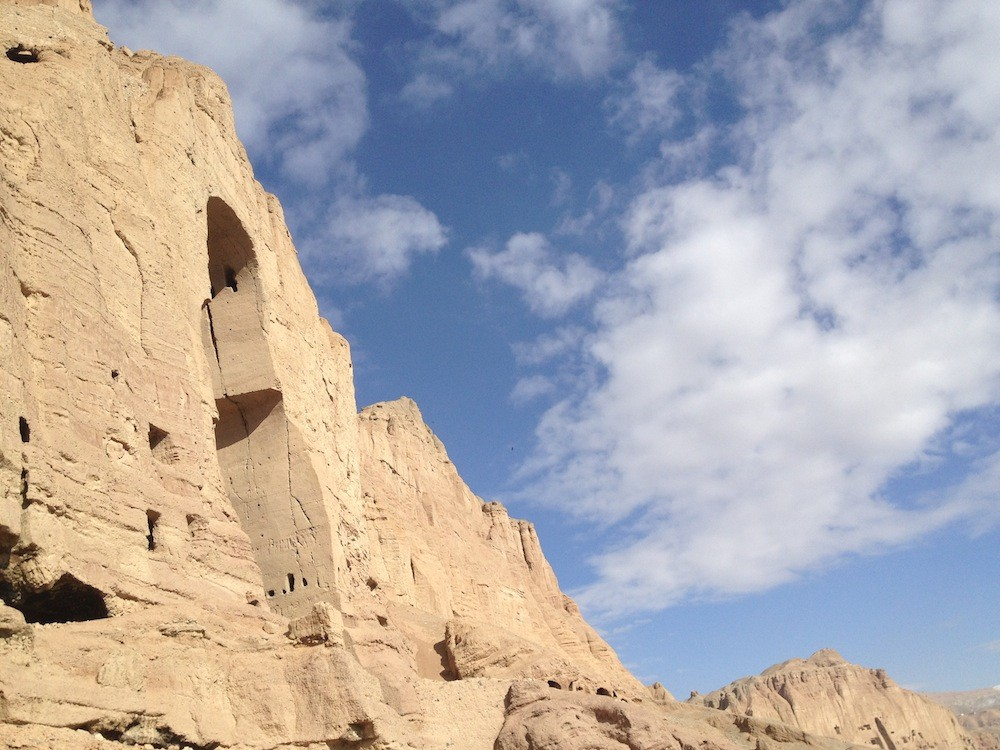 oil painting at bamyan in afghanistan predating