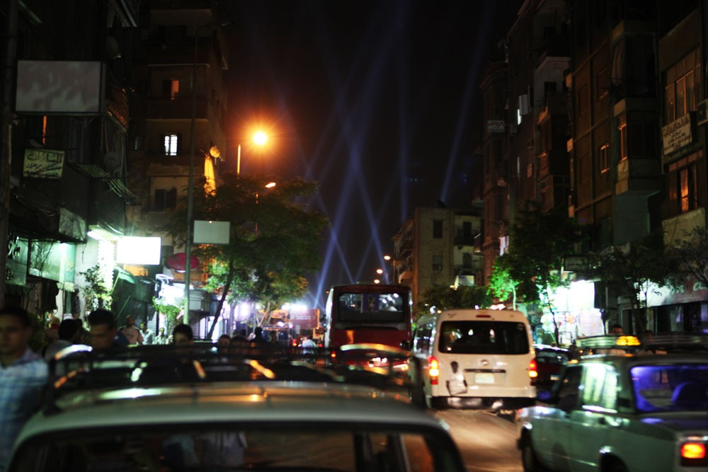 Lights from Mohamed Morsi(***)s final campaign rally in Cairo could be seen from more than a mile away.