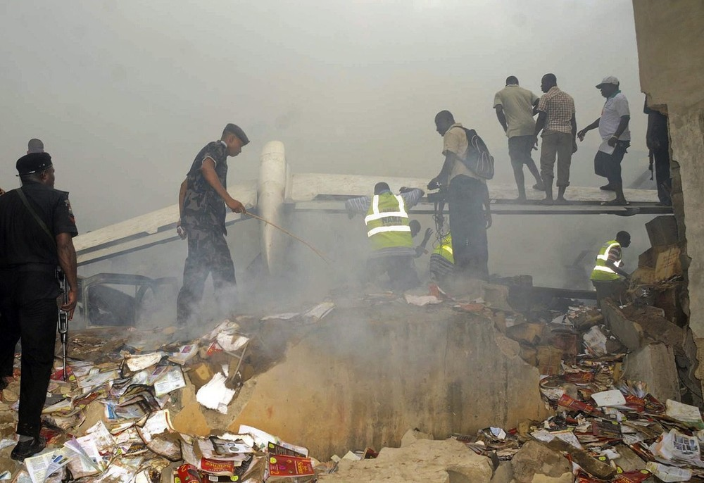 Nigerian President Jonathan Goodluck announced three days of national mourning after more than 150 people were killed when a passenger airplane crashed in Lagos. Everyone onboard was killed. The tragedy occurred just one day after a cargo plane crashed in Accra, Ghana, killing at least 10.