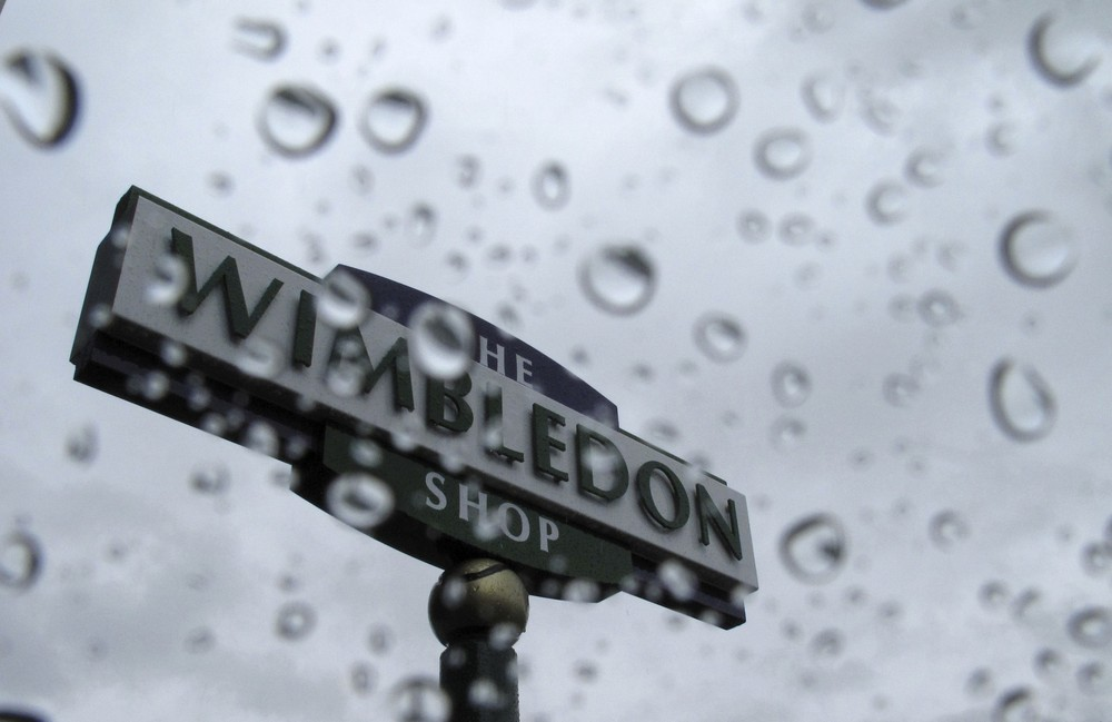 Not a promising sign - rain clouds at Wimbledon.