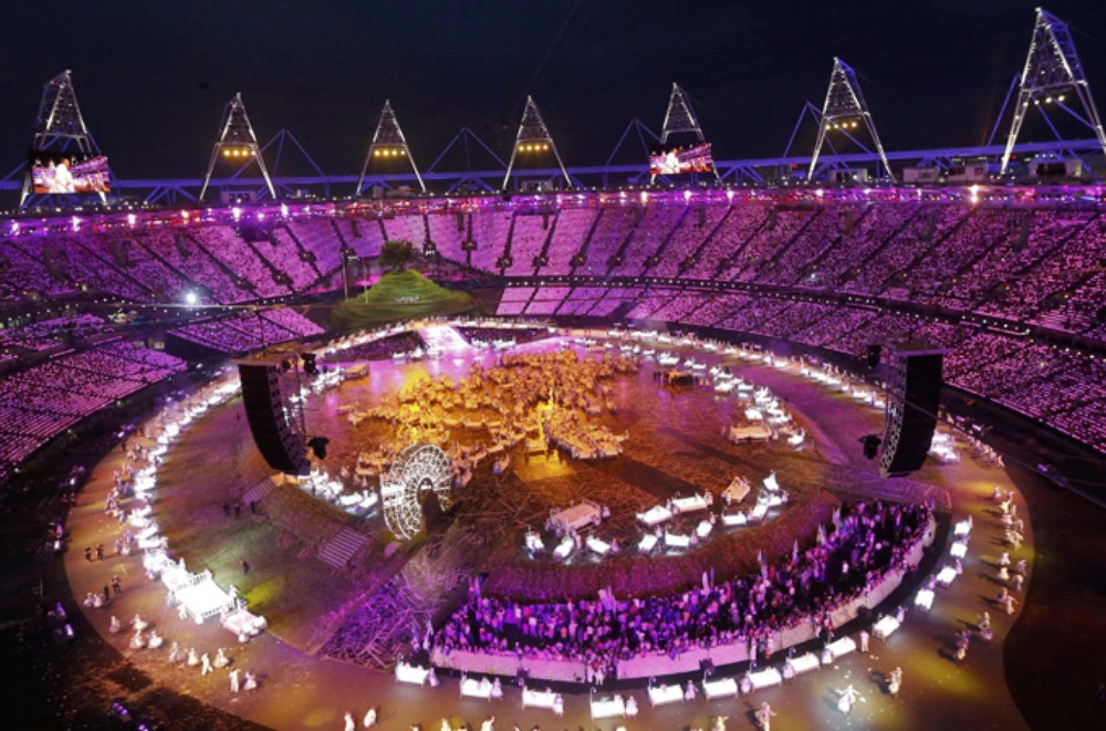 A general view of the opening ceremony of the London 2012 Olympic Games at the Olympic Stadium.