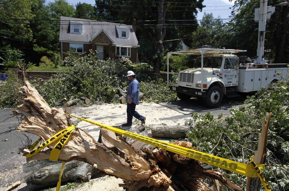Millions are still without power in the eastern parts of the US, three days after violent storms that took at least 18 lives.