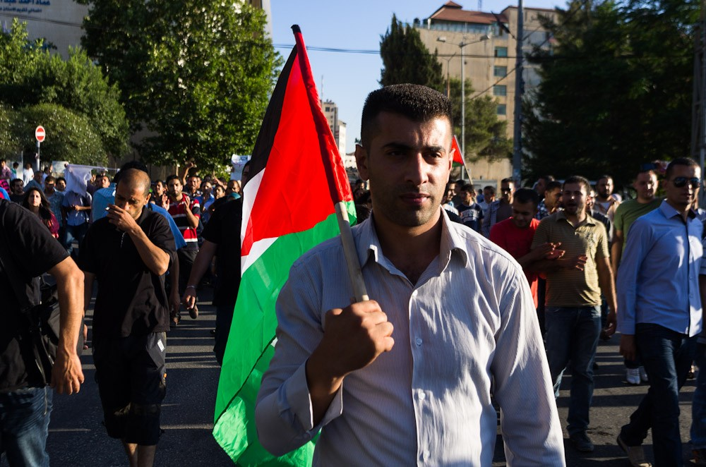 Rallies began on Saturday in Ramallah to protest a planned meeting between Palestinian Authority President Mahmoud Abbas and Israeli Deputy Prime Minister Shaul Mofaz.