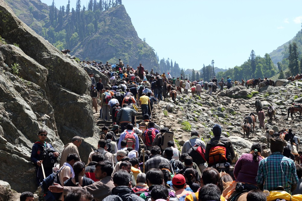 Amarnath Yatra 2012 began on June 24, amid high security in Indian-administered Kashmir.