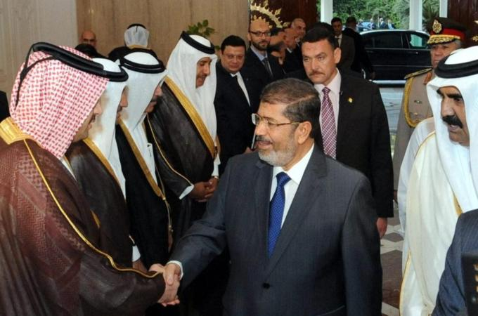 The Emir of Qatar's visit was the first trip to the country by a Gulf leader since Morsi was sworn in on June 30